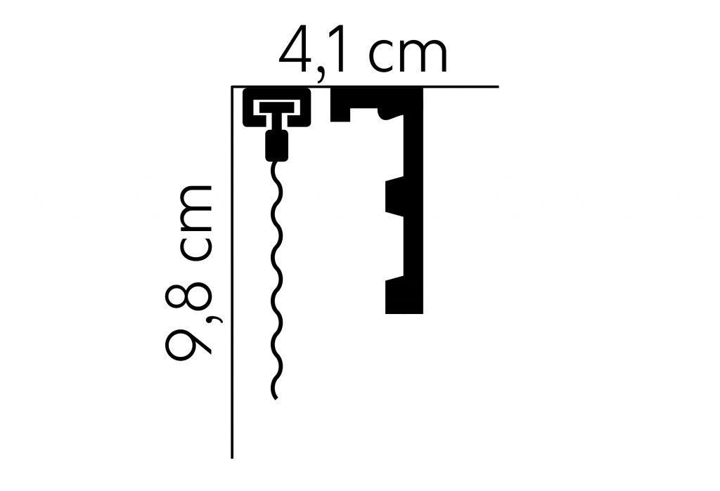osłona karnisza QL026